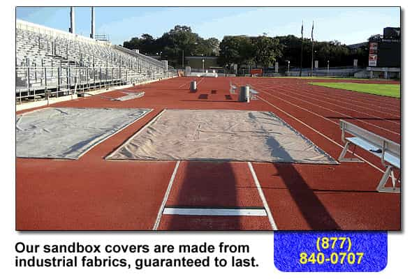a sandbox cover for the track